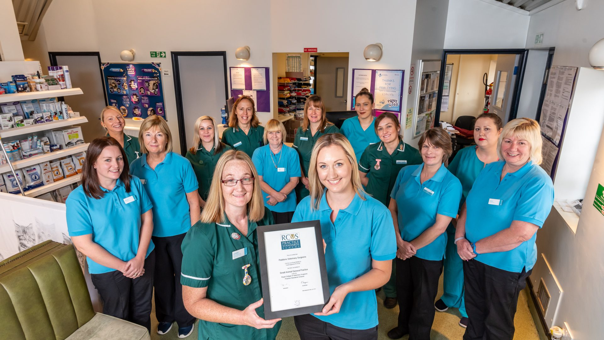 Top accreditation is a pawsome effort for Cambridgeshire vet practice