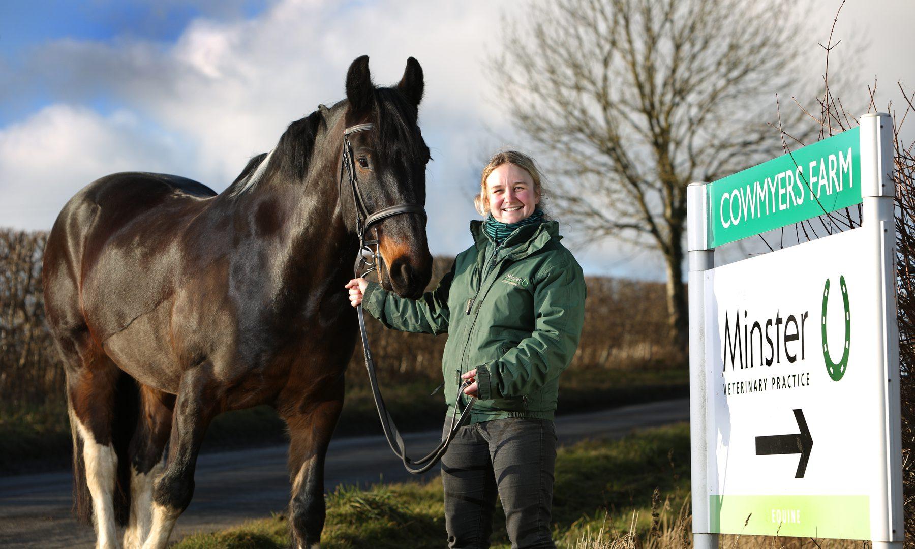 Horse vet Katie trots over to Ripon