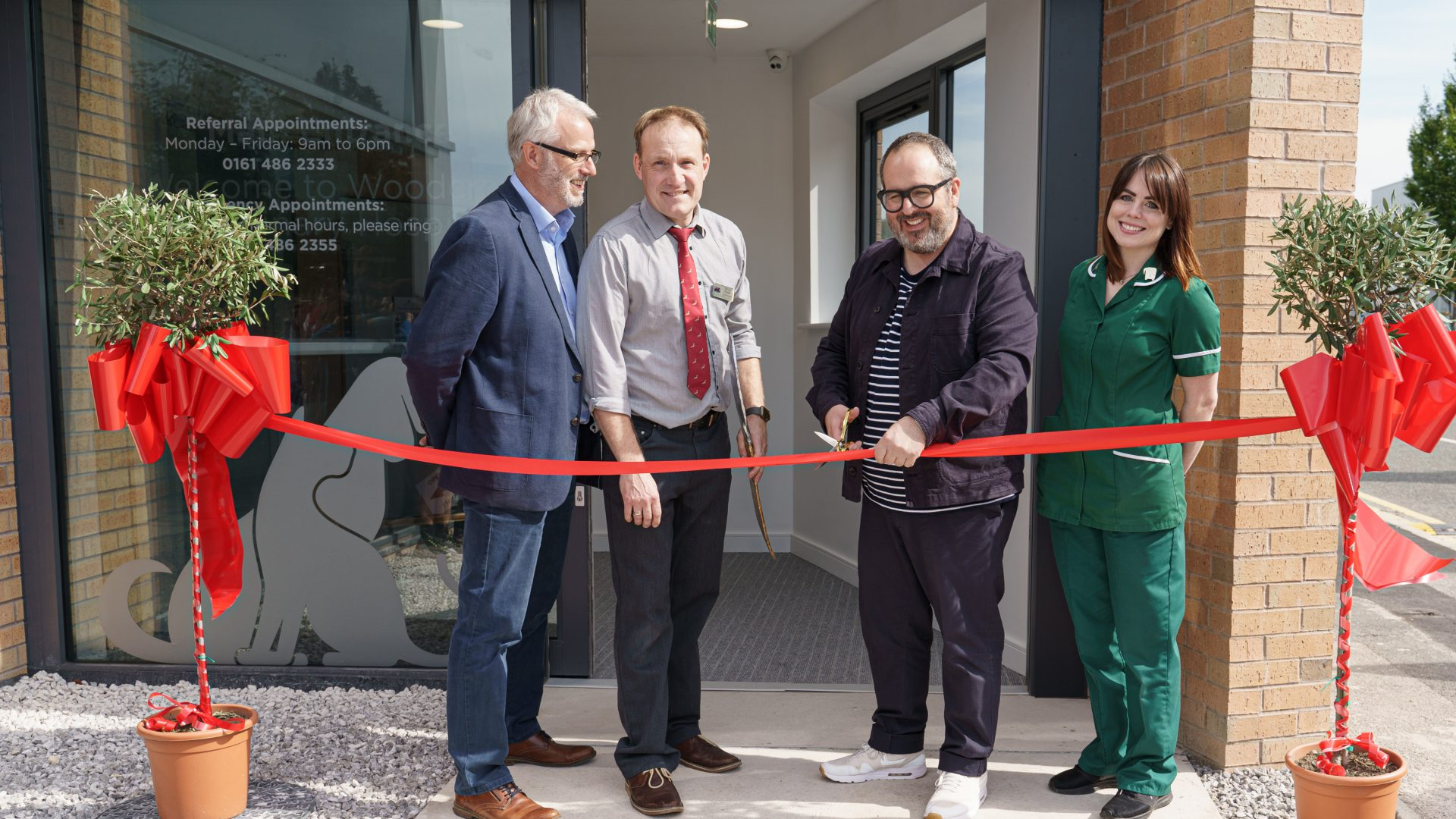 Comedian Justin Moorhouse opens new £2.5m Cheadle veterinary hospital