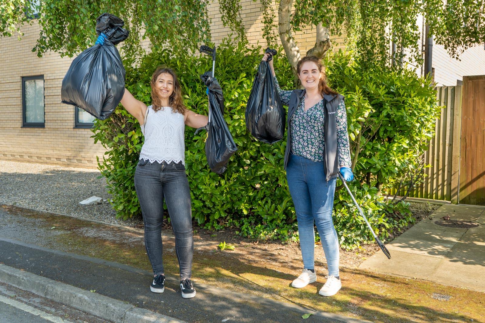 VetPartners litter-pick volunteers clean up neighbourhood