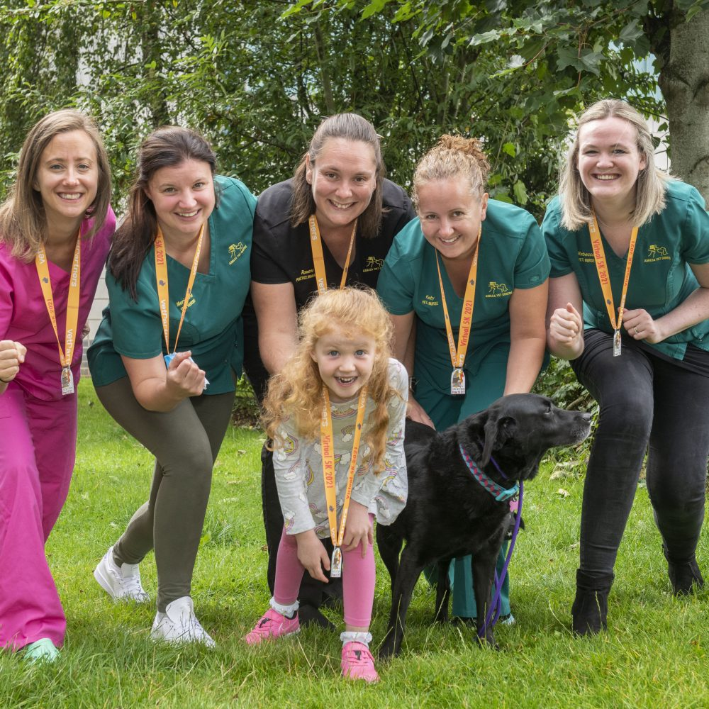 PAT on the back for caring veterinary teams after raising £3k